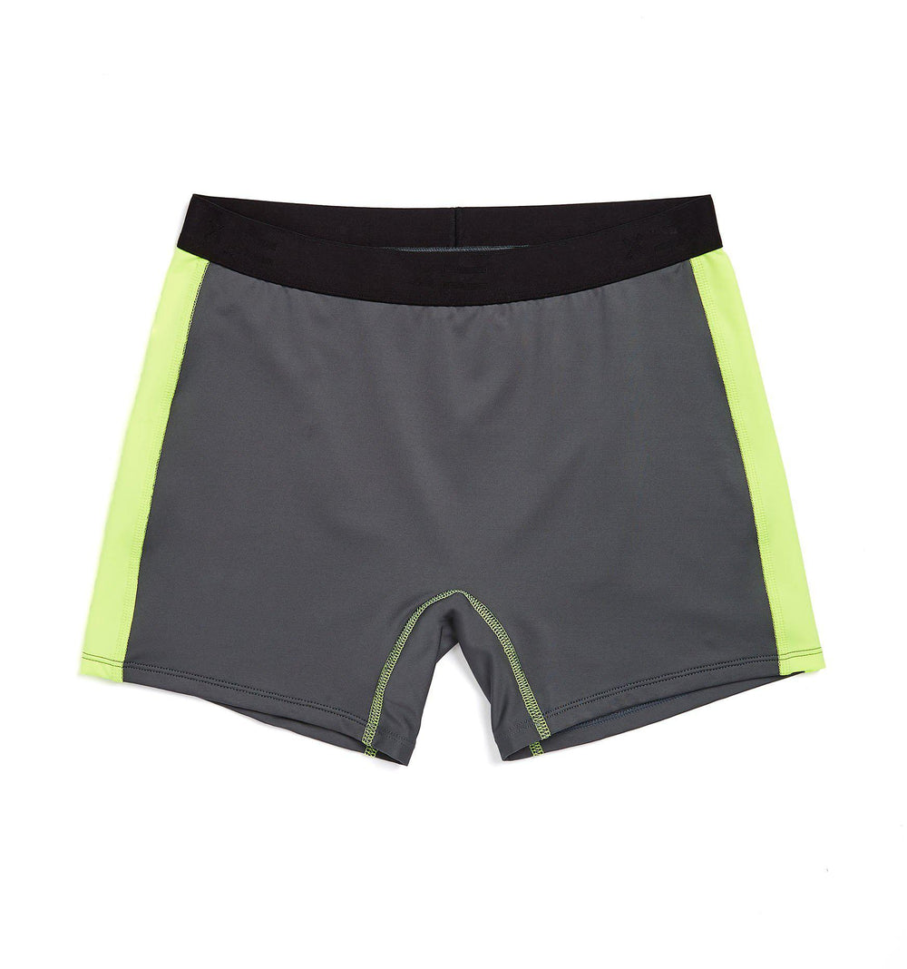 "Swim 4.5"" Shorts - Grey with Neon Yellow-Swim-TomboyX"