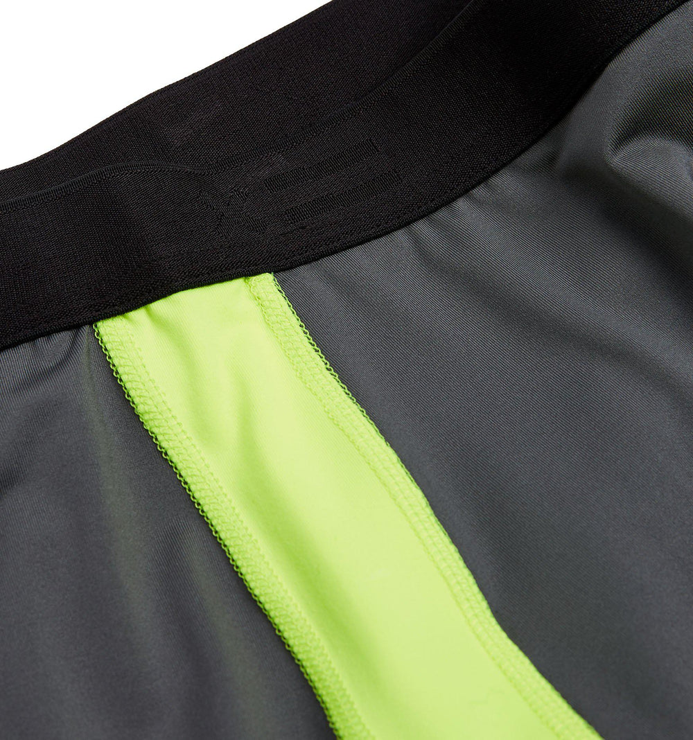 "Swim 4.5"" Shorts - Grey with Neon Yellow"
