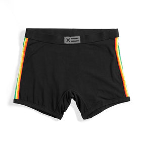 Boxing short Black Red stripes reduced to clear