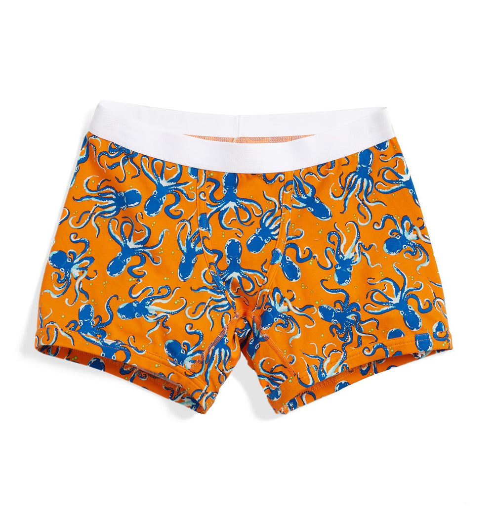 "4.5"" Trunks LC - Orange Octopus Print"