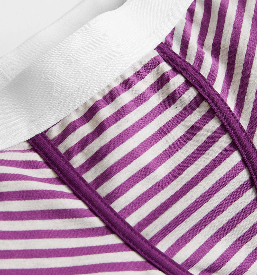 "4.5"" Trunks - Purple & Heather Grey Stripes-TomboyX"