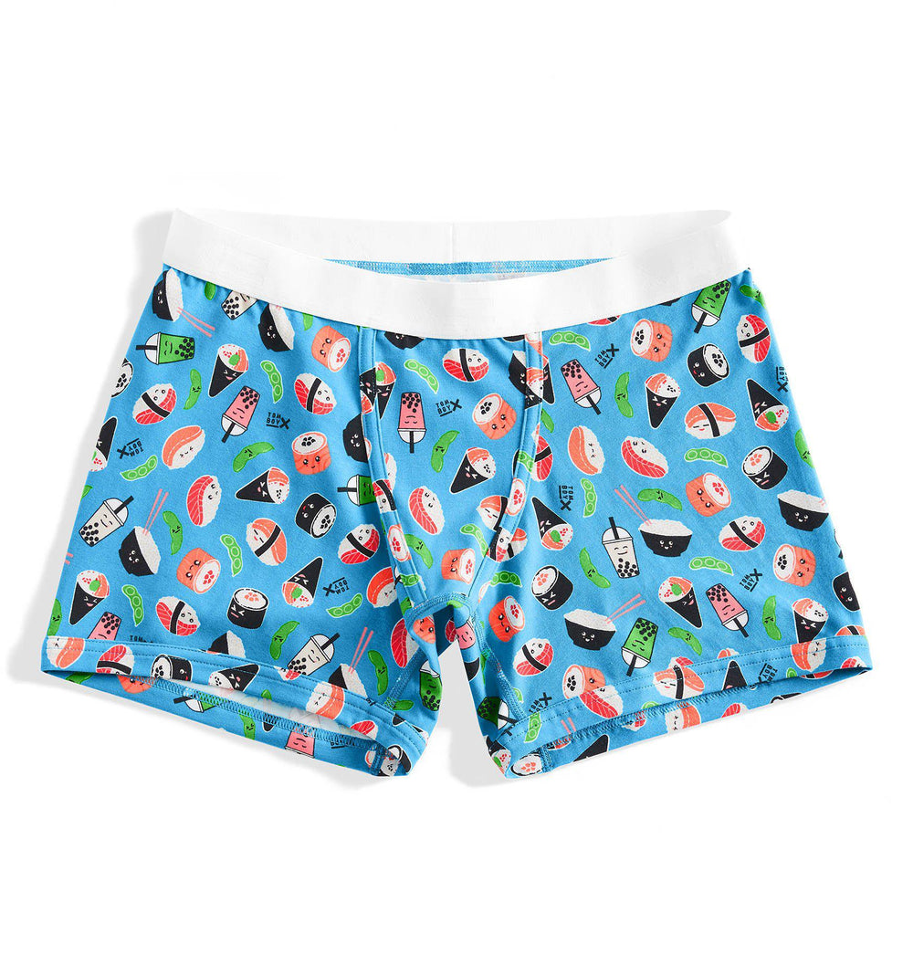 "4.5"" Trunks - Sushi Print-Underwear-TomboyX"
