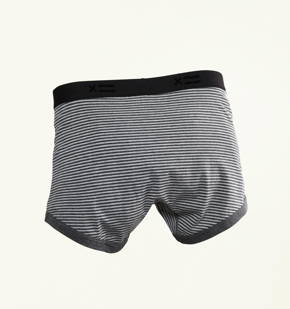 "4.5"" Trunks - Charcoal & Grey Stripes-TomboyX"