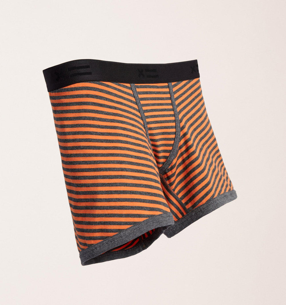 "4.5"" Trunks - Orange & Charcoal Stripes-TomboyX"