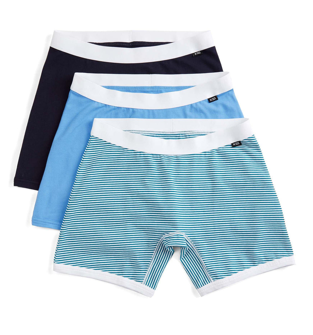 "3 Pack 6"" Boxer Briefs - Blue Wave-3 Pack-TomboyX"
