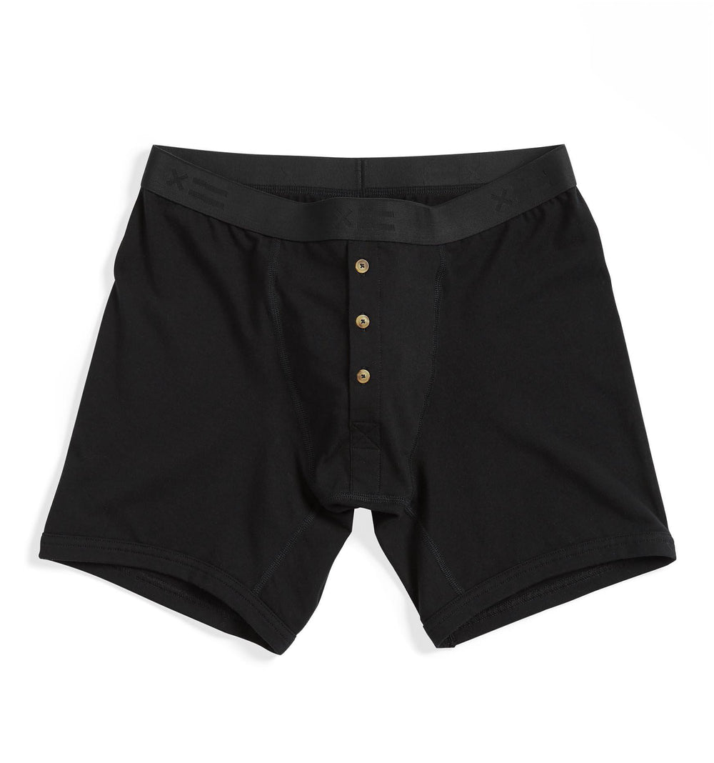 "6"" Fly Packing Boxer Briefs - Black-Underwear-TomboyX"