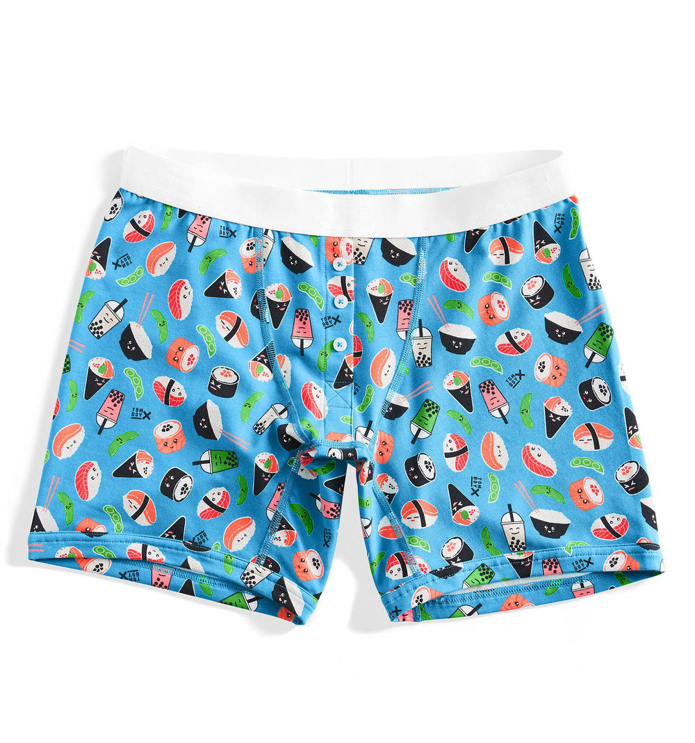 "6"" Fly - Sushi Print-Underwear-TomboyX"