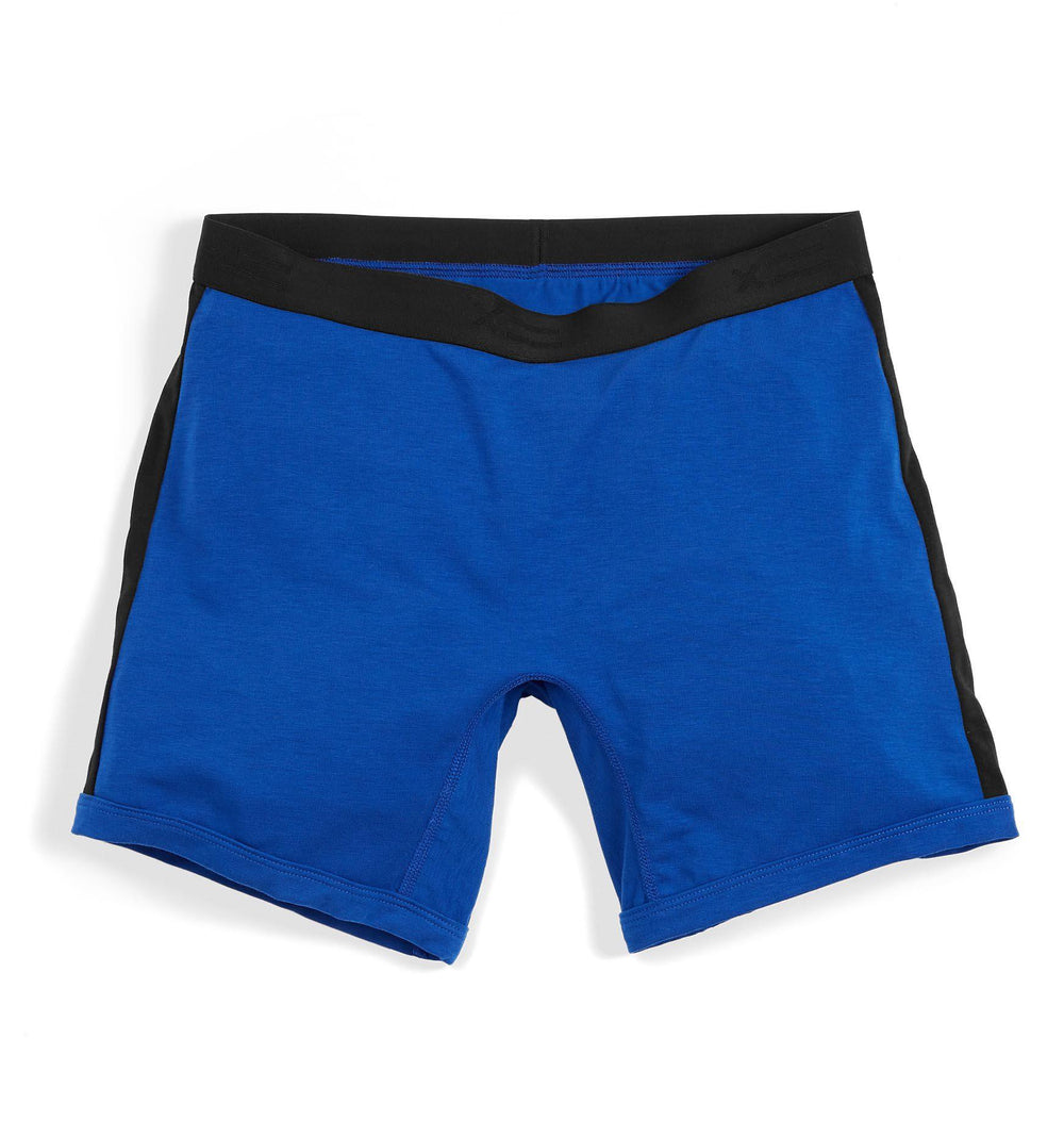 "6"" Boxer Briefs - Active Drirelease® Royal With Black Trim"