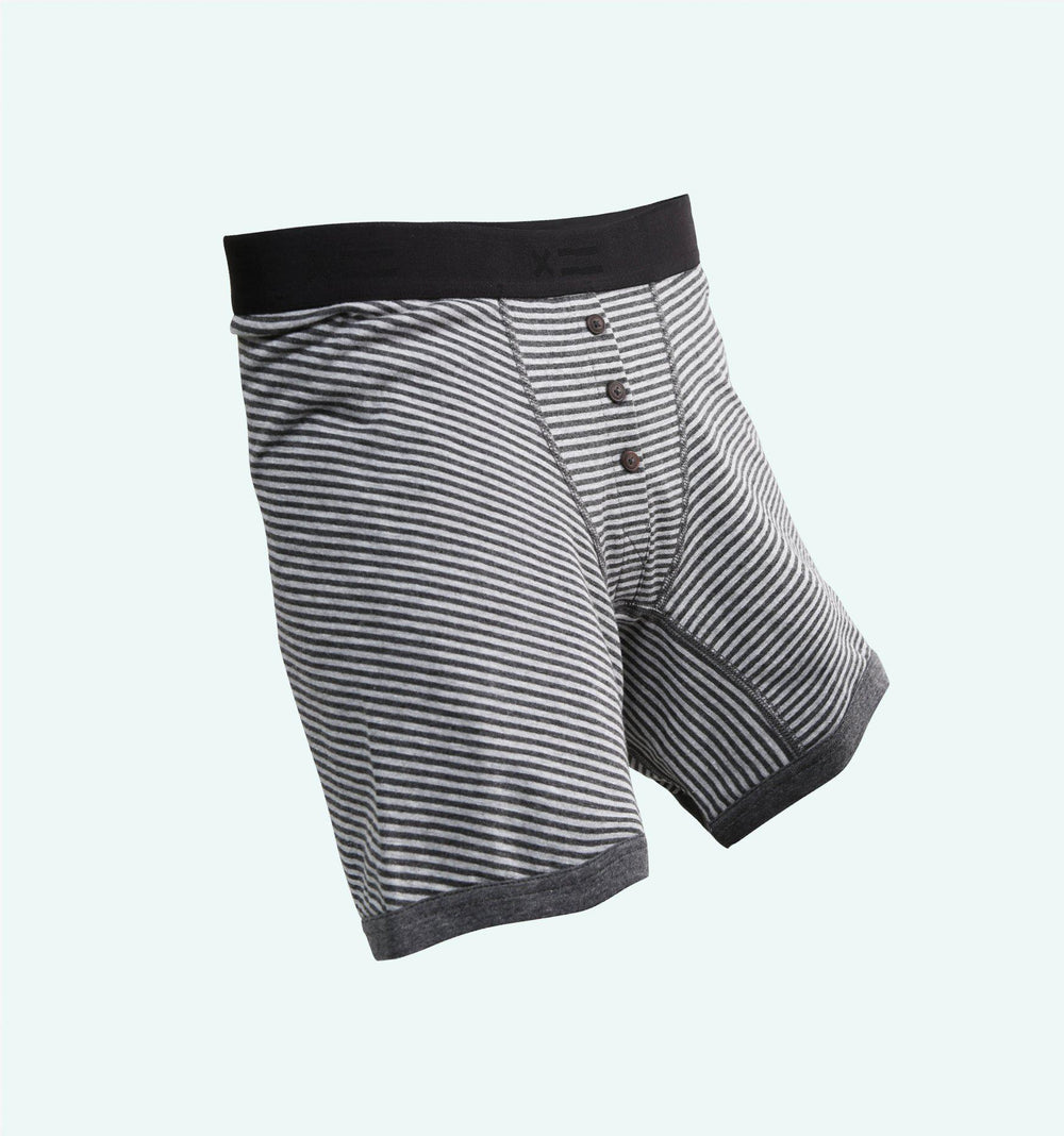 "6"" Fly - Charcoal & Grey Stripes-TomboyX"