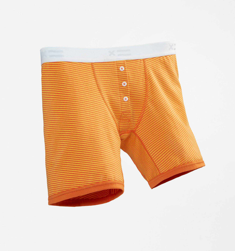 "6"" Fly - Orange & Yellow Stripes-TomboyX"