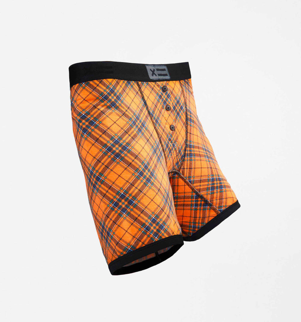 "6"" Fly - MicroModal Orange Tartan-TomboyX"