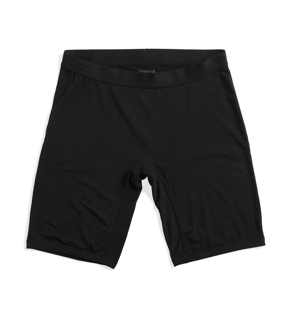 "9"" Boxer Briefs - Active Drirelease® Black-Underwear-TomboyX"