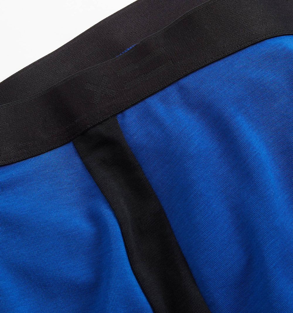 "9"" Boxer briefs - Active Drirelease® Royal With Black Trim-TomboyX"