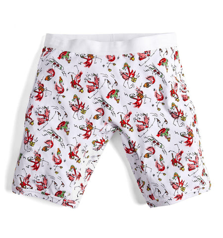 "9"" Boxer Briefs - Flamingo Bells Print-TomboyX"