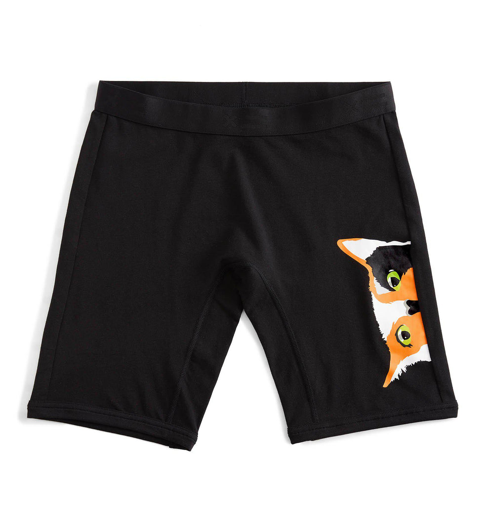 "9"" Boxer Briefs - Curious Cat Print-Underwear-TomboyX"