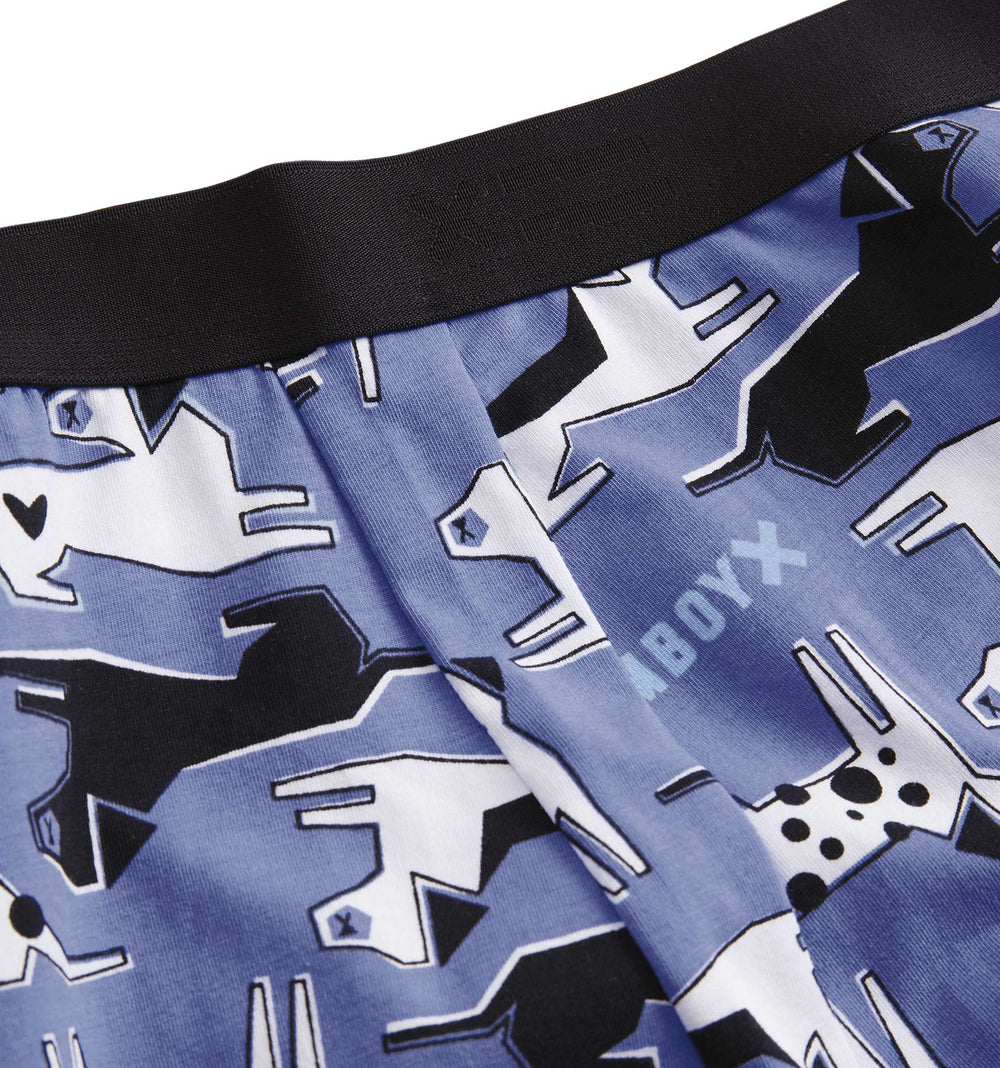 "9"" Boxer Briefs - Good Boy Blue Print-Underwear-TomboyX"