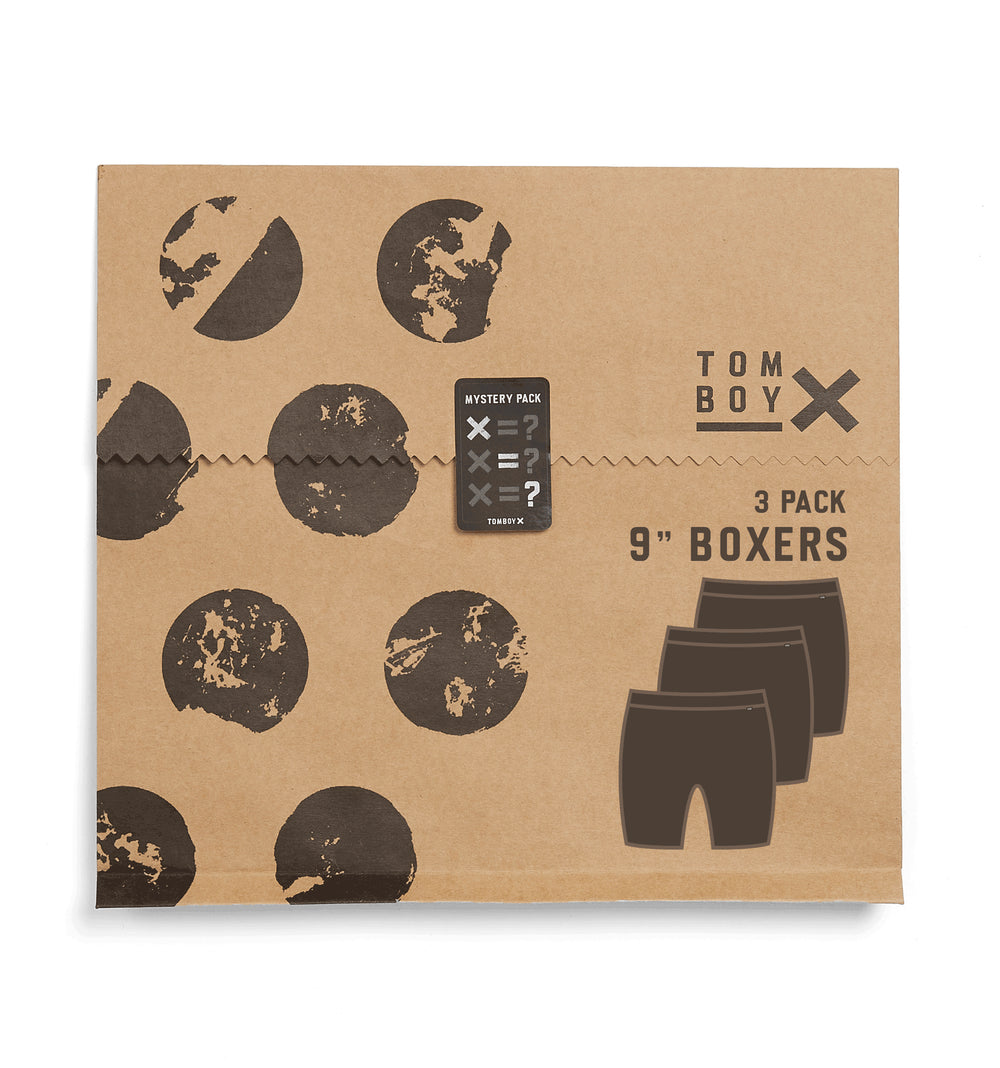 "3 Pack 9"" Boxer Briefs - Mystery-3 Pack-TomboyX"