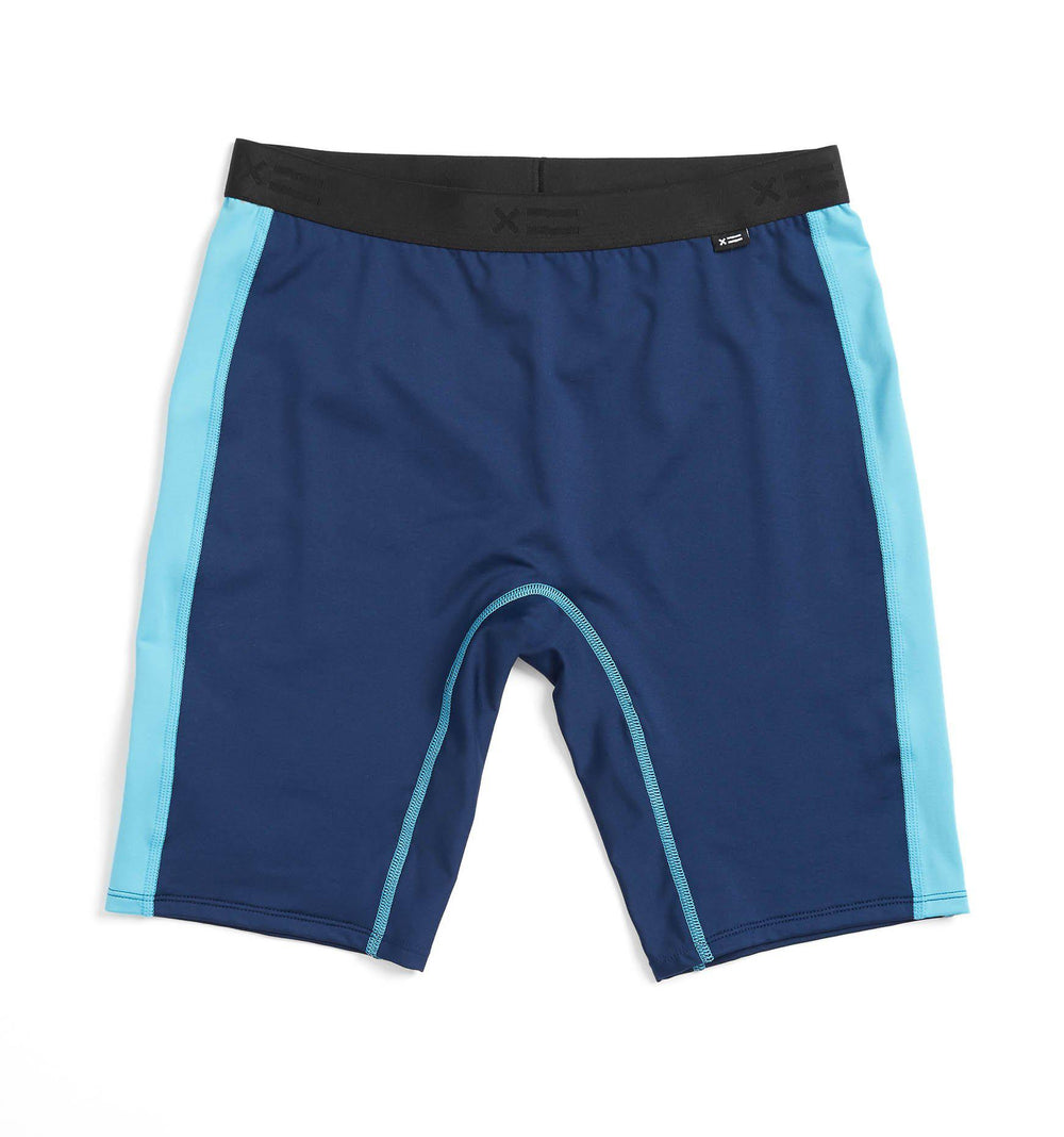 "Swim 9"" Shorts - Navy with Island Blue"