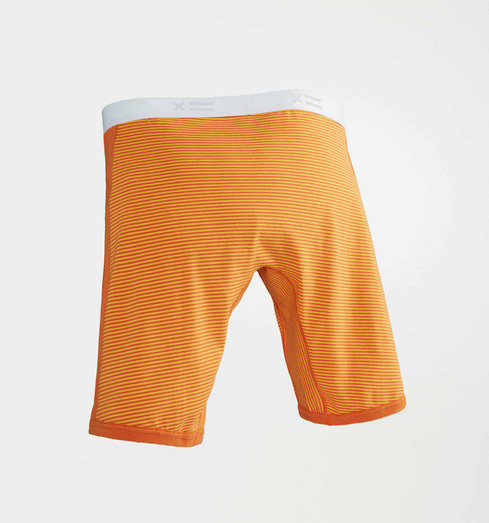 "9"" Boxer Briefs - Orange & Yellow Stripes-TomboyX"