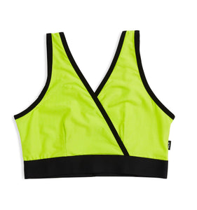Crossover Cutout Bra - Traveler Hot Lime-Bra-TomboyX