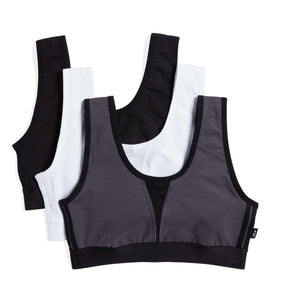 Exclusive: 3 Pack Adaptable Soft Sports Bra - Gridiron-Bra-TomboyX