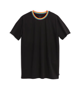 Anywhere Oversized Tee - Black Rainbow-T-Shirt-TomboyX