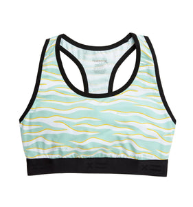 Racerback Soft Bra - Blend Out Print-Bra-TomboyX