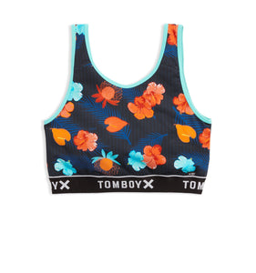 Swim Sport Top - Blue Aloha Print-Swim-TomboyX