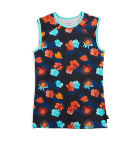 Swim Tank - Blue Aloha Print-Swim-TomboyX
