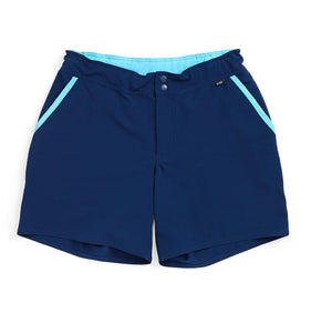 Swim Board Shorts - Navy With Island Blue-Swim-TomboyX