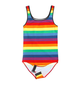 Exclusive: Bodysuit - Rainbow Pride Stripes-Loungewear-TomboyX