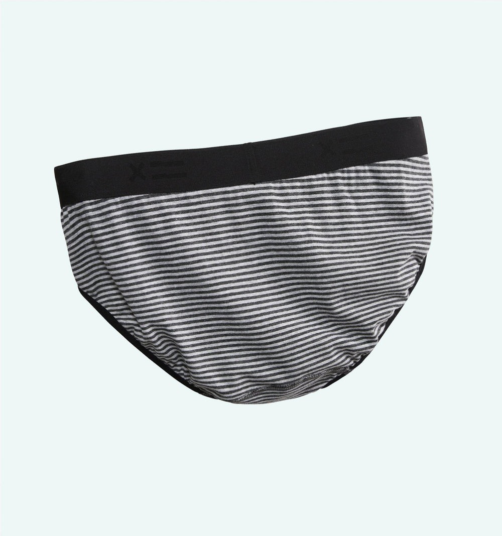 Iconic Briefs - Charcoal & Grey Stripes-TomboyX