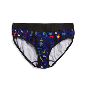 Exclusive: Iconic Briefs - Arcade Hero Print-Underwear-TomboyX