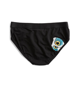 Iconic Briefs - Cheeky Owl Print-Underwear-TomboyX