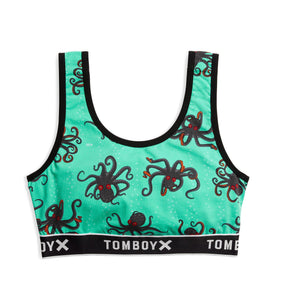 Essentials Soft Bra - Denizens of the Deep Print-Bra-TomboyX