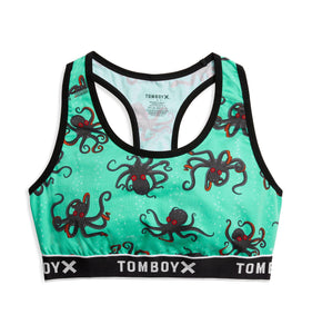 Racerback Soft Bra - Denizens of the Deep Print-Bra-TomboyX