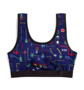 Exclusive: Essentials Soft Bra - Arcade Hero Print-Bra-TomboyX