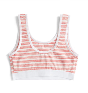 Essentials Soft Bra - Red & White Stripes Print-Bra-TomboyX
