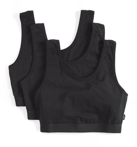 3 Pack Essentials Soft Bra - Black-3 Pack-TomboyX