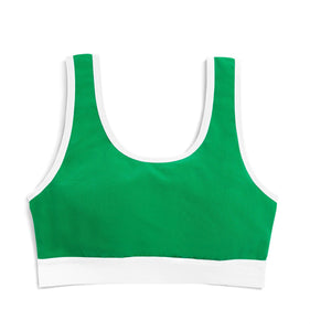Essentials Soft Bra - Kelly Green-Bra-TomboyX