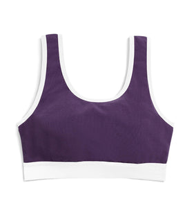 Essentials Soft Bra - Plum-Bra-TomboyX