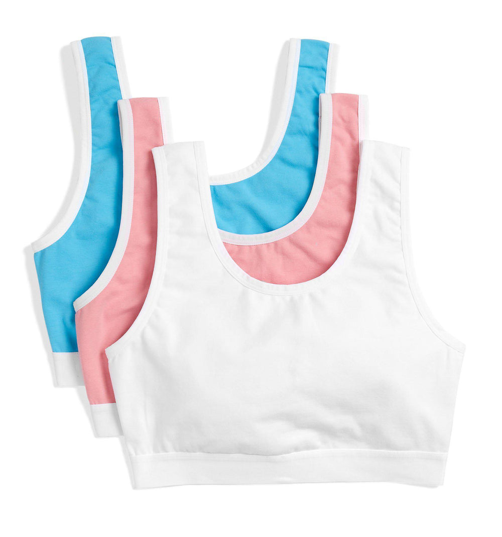 3 Pack Essentials Soft Bra LC - Trans Pride-3 Pack-TomboyX
