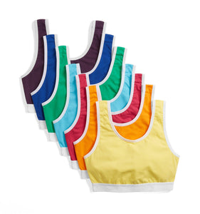 7 Pack Essentials Soft Bra - Colors of the Rainbow-7 Pack-TomboyX