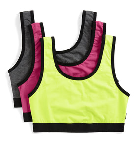 3 Pack Essentials Soft Bra - Neon Nights-3 Pack-TomboyX