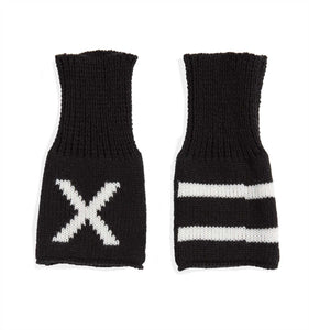 Exclusive: Fingerless Gloves - X= Black-Accessories-TomboyX