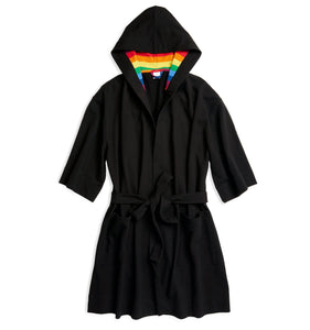 French Terry Robe - Black with Rainbow-Loungewear-TomboyX