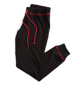 French Terry Jogger - Black with Red-Loungewear-TomboyX