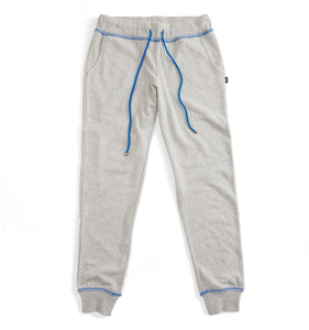 French Terry Jogger - Grey with Blue-Loungewear-TomboyX