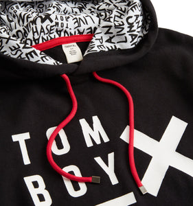 French Terry Pullover Hoodie - TomboyX Black with Beyond the X-Loungewear-TomboyX