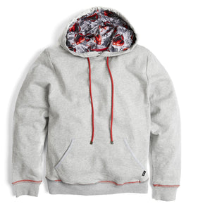French Terry Pullover Hoodie - Heather Grey with Dukes Up-Loungewear-TomboyX